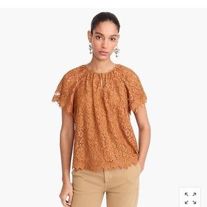 J crew lace tops New with tag size s